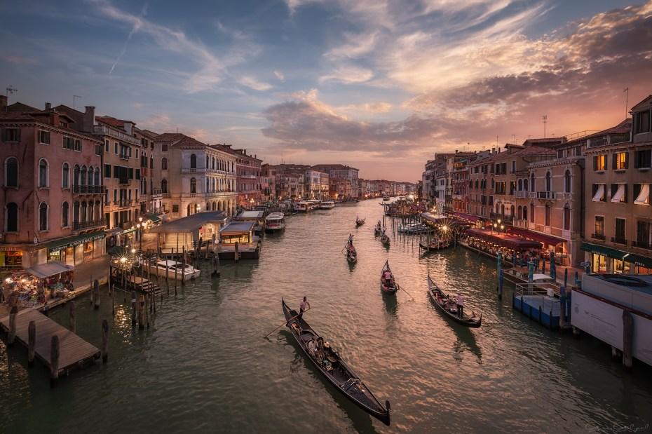 Büyük Kanal, Venedik, İtalya.
