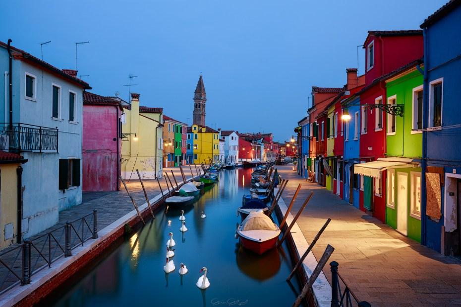 Burano Adası, İtalya.