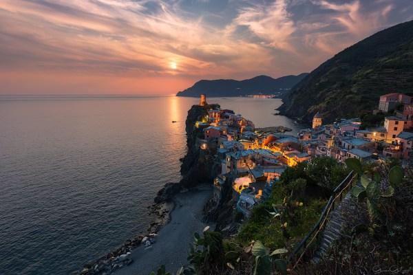 Vernazza, Cinque Terre, İtalya.