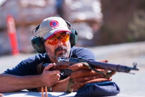 Front view picture of Gun Guy with a Mosin Nagant 91-30