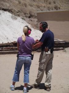 The Gun Guy (Joel Persinger) teaching a private lesson.