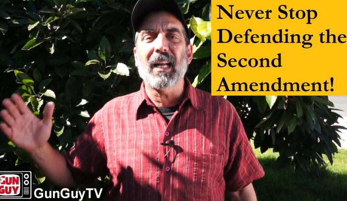 Never stop defending the 2nd Amendment!