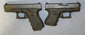 Glock 19 next to Glock 26