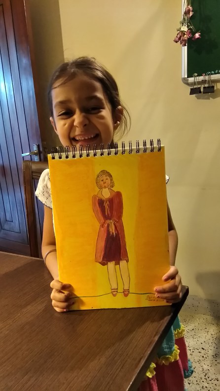 Lady in oil pastel -Sahej