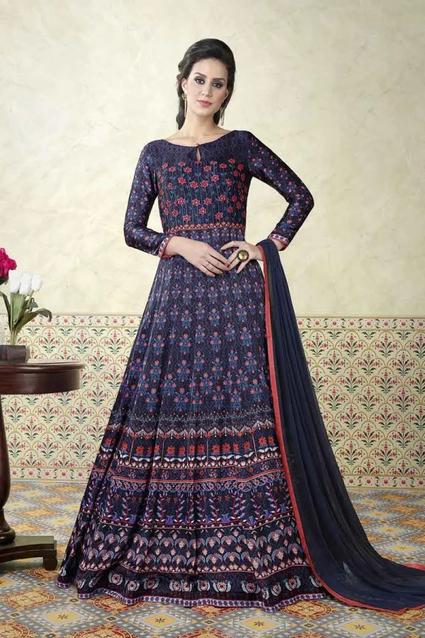 Stylish Modal Satin Printed Party Wear Floor Length Anarkali Suit 5308