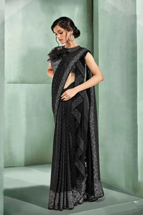 Black Saree Party Wear