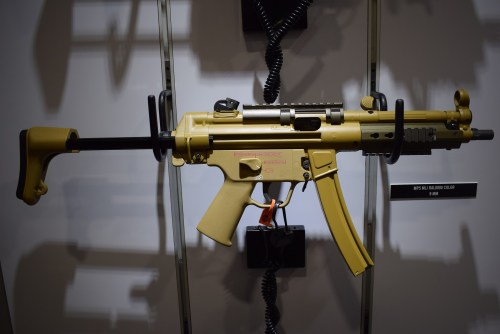 New H&K MP5 in brown color displayed at SHOT Show 2018.