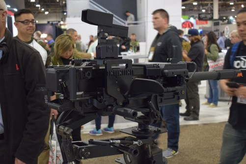 H&K automatic grenade launcher at SHOT Show.