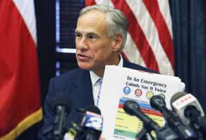 Texas Gov. Greg Abbott releases his school safety plan at a press conference