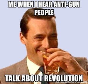 Meme about anti-gun people