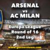 Arsenal vs AC Milan