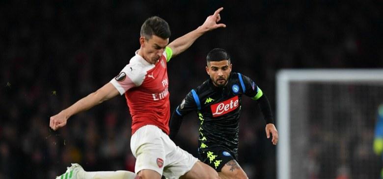 Koscielny Insigne Arsenal Napoli lapresse 2019