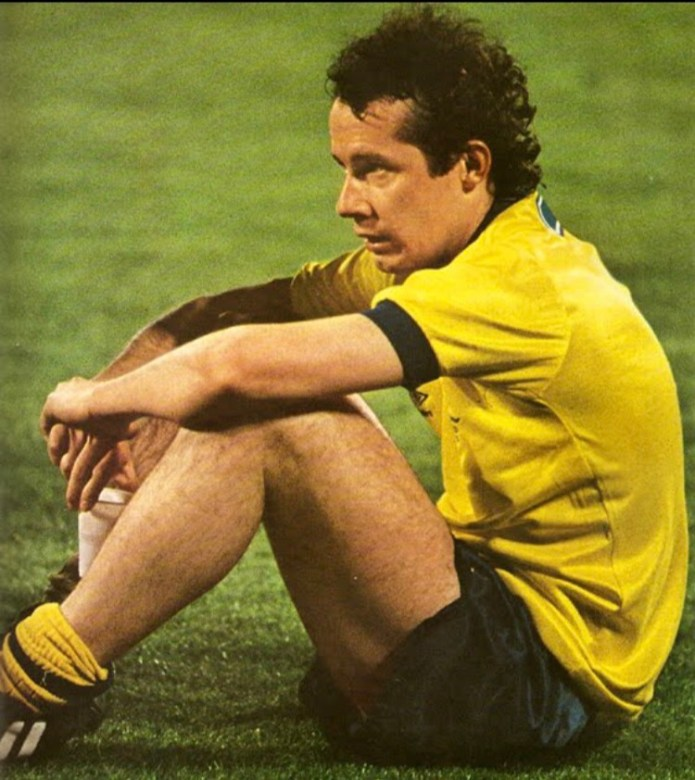 Liam Brady sits dejected after Arsenal lose the Cup Winners Cup on penalties