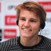 Ødegaard at press-conference