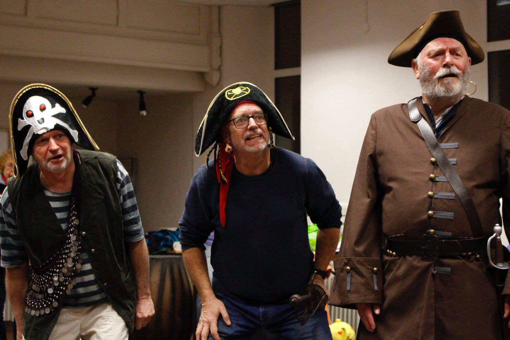Actors dressed as pirates