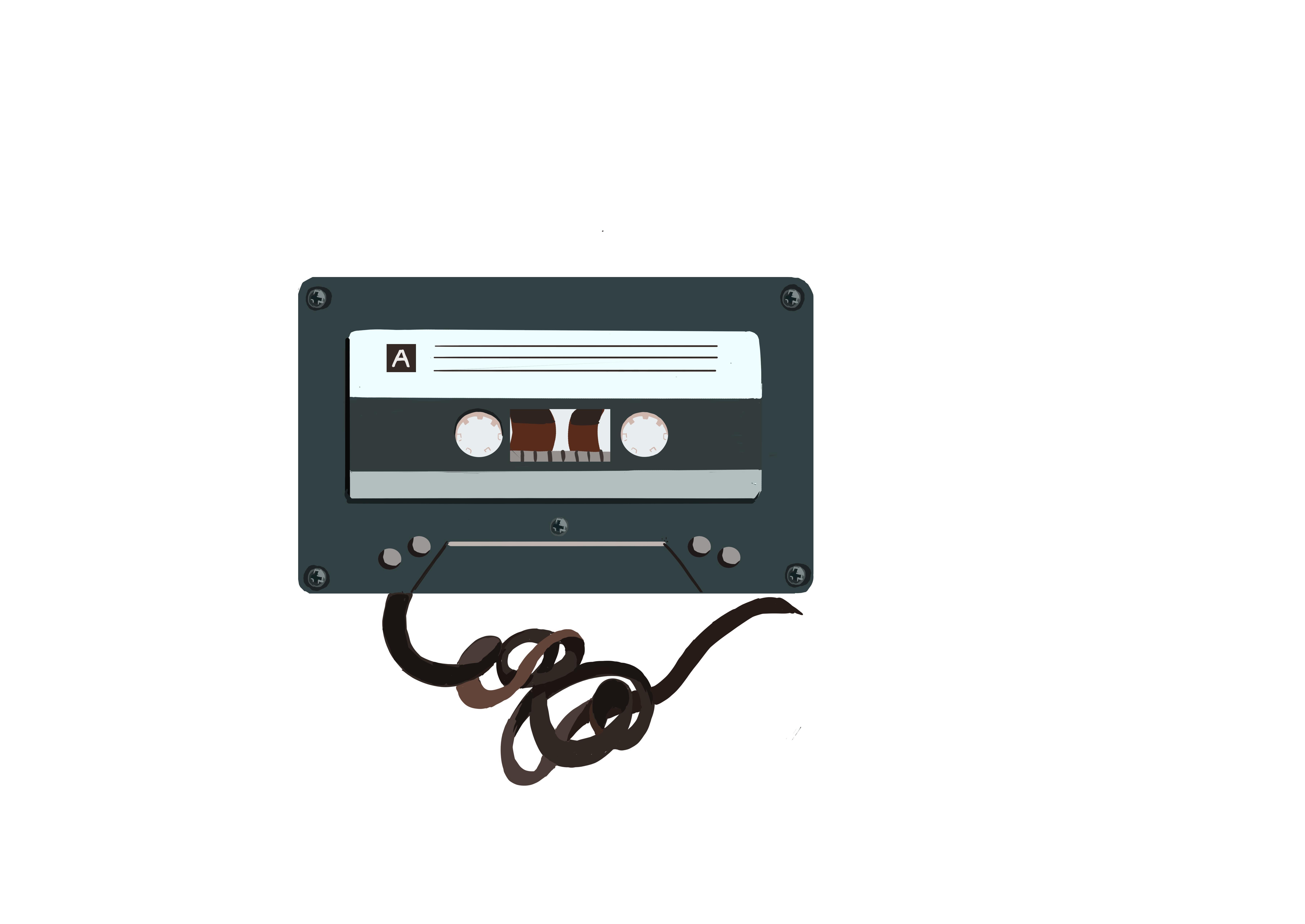 cassett tape unraveled