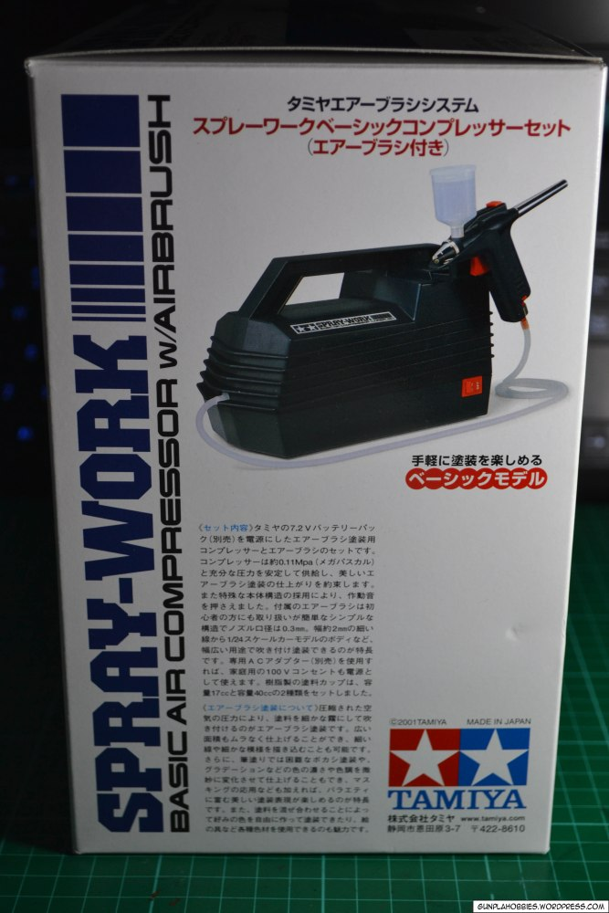 Tamiya Spray-Work Basic Air Compressor w/ Airbrush Review (4/6)