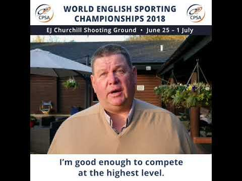 George Digweed 2018 World English Sporting Championships Course Setter