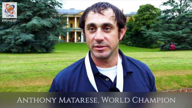 World ESP 2016 interview with World Sporting Champion Anthony Matarese