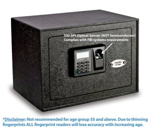image showing the Viking biometric safe