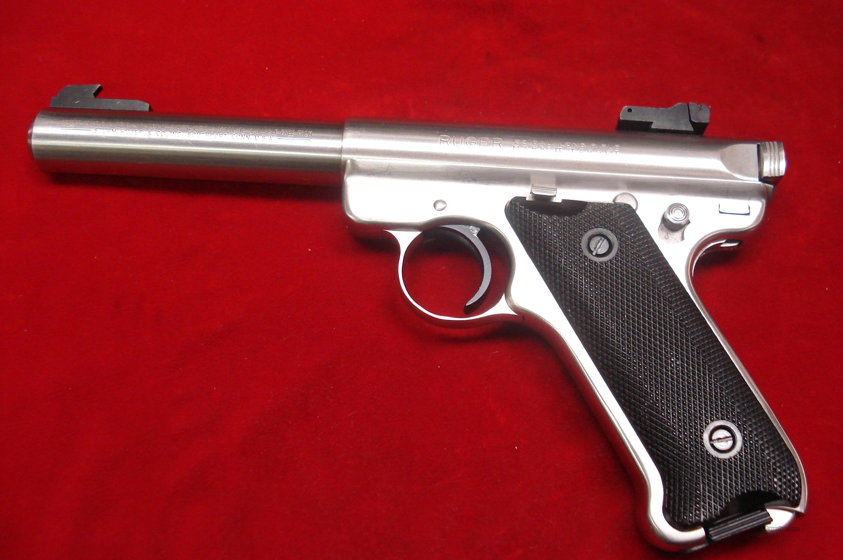 Ruger Mkii 5 5 Stainless Bull Barrel Used Nice For Sale