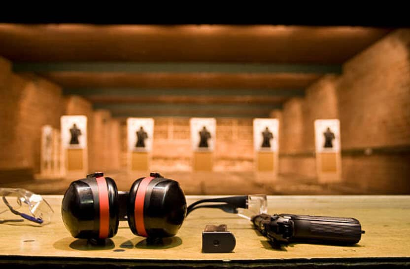 Photo of a shooting range