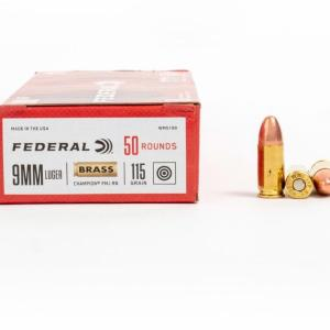 9mm – 115 gr FMJ – Federal Champion (WM5199) – 500 Rounds