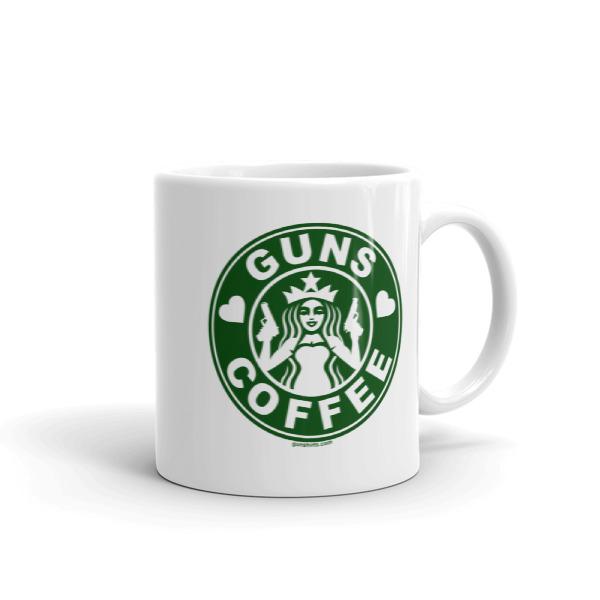 I Love Guns & Coffee Coffee Mugs