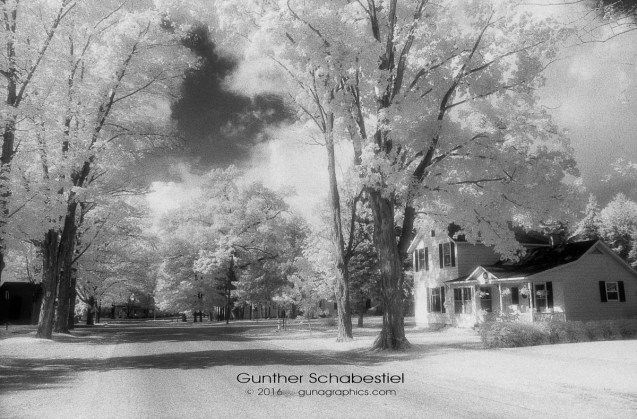 Infra-red film, rural neighborhod in northern Michigan
