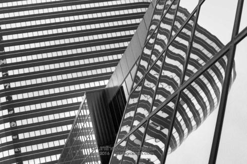 Fun with details and architectural patterns. 120 6x6 Black and White Film