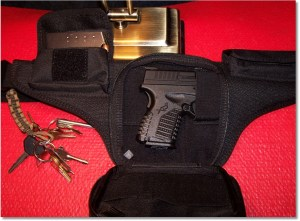 XDs45 with the Ka-Bar TDI Law Enforcement Fanny Pack
