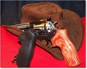 "Ruger GP141 w/Hogue Rosewood Grips and Hogue 'Tamer"" Grips"