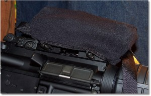 """The SS6, 7-85"""" Scopeshield fits the UTG CQB Red/Green Dot Sight Nicely on this Windham """"SRC"""""""