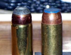 Roll Crimp (left) vs. Taper-Crimp (right)