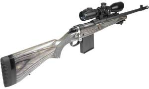Long Eye relief (LER) Scope Mounted on a Ruger Gunsite Scout