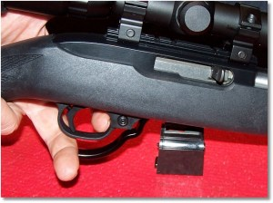 A Simple Press Down-to-Release Action Drops the Magazine.