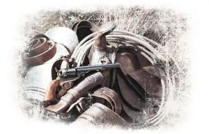 A Single-Action Open Top Colt Navy Revolver