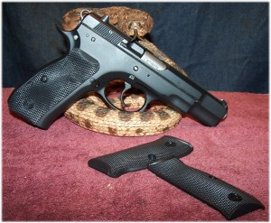 CZ75B Ω (Omega)  with New Rubber Right Side Grip Panel.