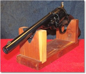 1872 Uberti Army Open-Top Revolver - Note Blade Front Sight and Notch Rear Sight on Barrel