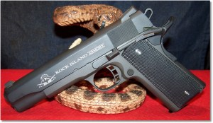 RIA 1911 FS Tactical (2nd Generation) with Updated Grip Panels and COntrasting Stainless Steel Grip Screws