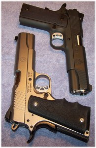 Springfield 1911 Loaded (Top) and Ruger SR1911 (Bottom)