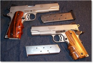 The Ruger SR1911CMD (Bottom) and the Bigger Brother the SR1911 (Top)