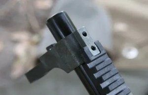 Front Sight Base (14) Is mounted with Two Front Sight Base Screws (17)