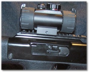 UTG Red/Green Dot Sight Replaces the Rear Sight