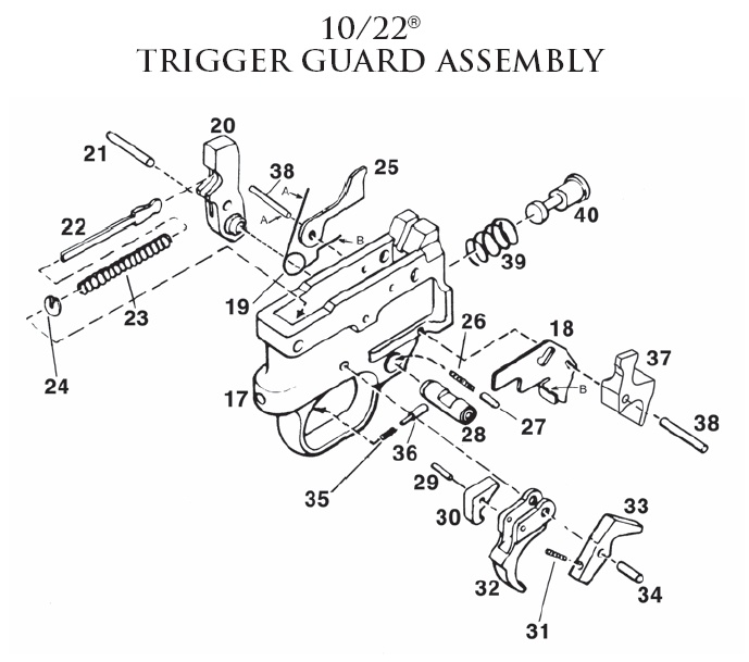 96 Ruger 10 22 Parts And Diagram Gun Parts Corp Ruger 10 22