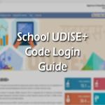 School Udise Code Login
