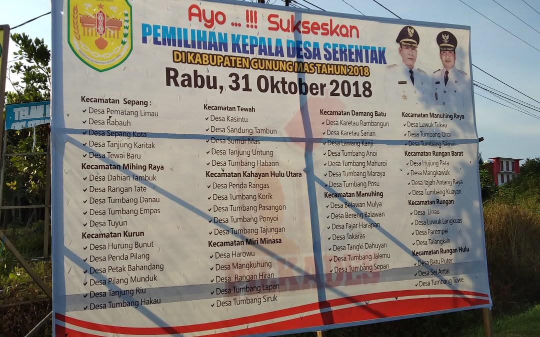 Desa-Desa Yang Mengikuti Pemilihan Kepala Desa Serentak 31 Oktober 2018