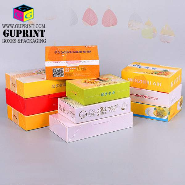 Custom LOGO Disposable Airline Meals Boxes | Collapsible Flat Pack