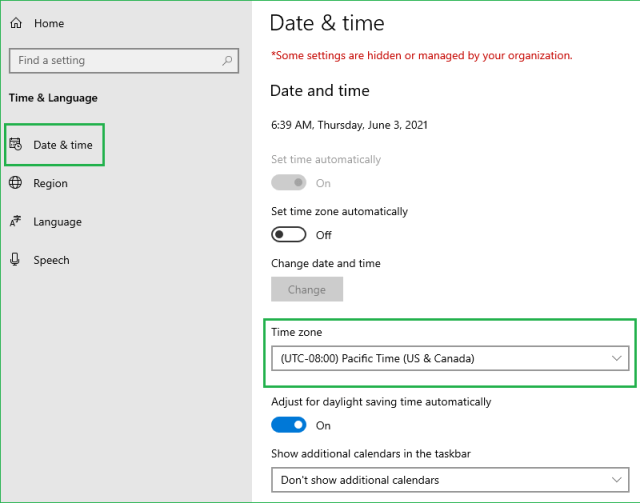 Change Date and Time in a Citrix Session