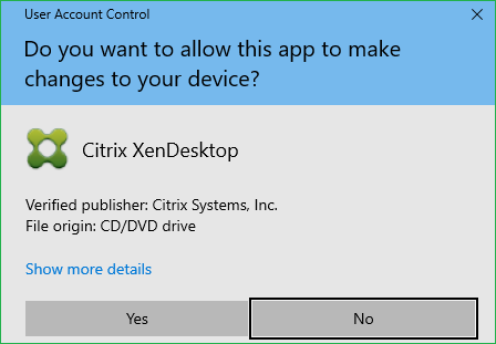 User Access Control Prompt